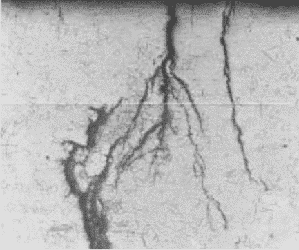 grietas de metal Stress Corrosion Cracking